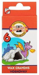 Мелки восковые 6 цв. Koh-i-noor, картон. короб. с е/п 8231/6  Koh-i-noor