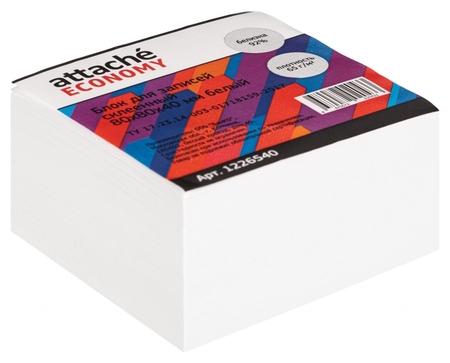 Блок для записей Attache Economy проклеенный 8х8х4, белый, 65 г, 92  Attache