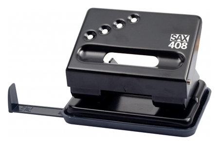 Дырокол SAX 408 30 листов, с линейкой, черный  Sax