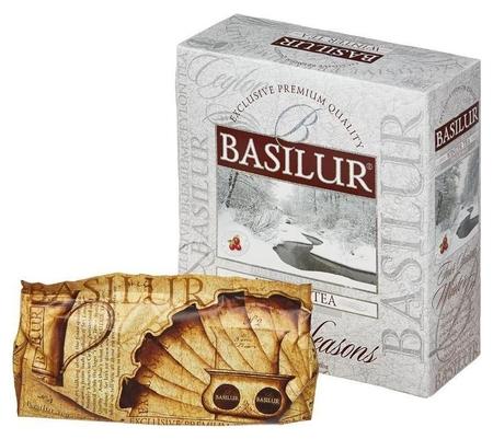 Чай Basilur зимний с клюквой черн. 100 пак/уп 70168-03 Basilur
