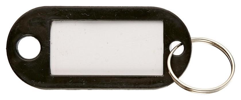 Бирки для ключей 10 шт/уп, черная  NNB