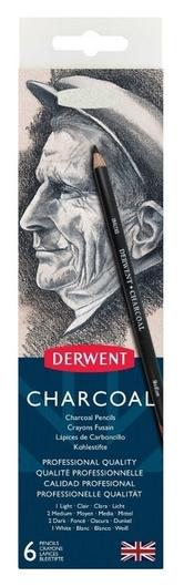 Уголь угольных Derwent Charcoal 6шт мет кор D-0700838  Derwent