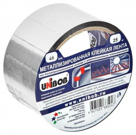 Клейкая лента металлизированная 48 мм х 25 м  Unibob