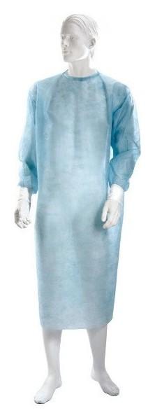 Халат хирург. н/с рук.манжета кlever дл.140 см пл.25 10шт/уп.  Klever