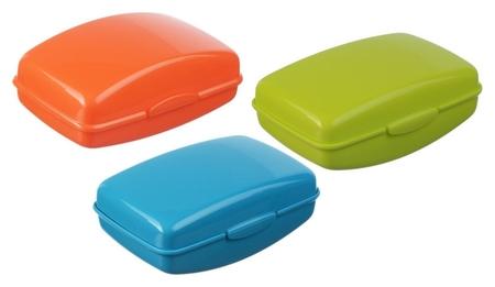 Мыльница пластик с крышкой м2219 цвета  Idea