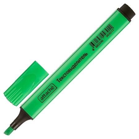 Маркер выделитель текста Attache зеленый 1-4 мм треугольный Attache