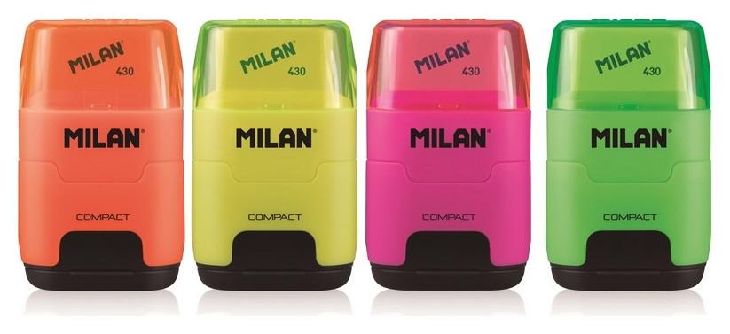Ластик -точилка Milan Compact Fluo, цв в асс 4719116  Milan