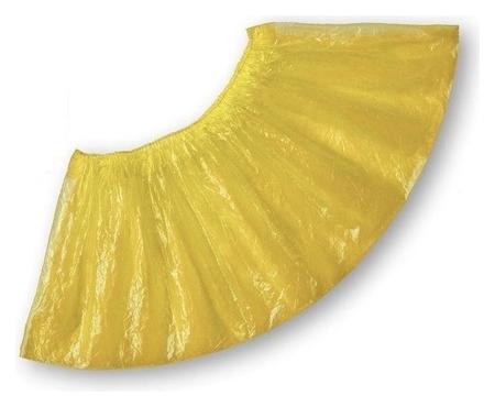 Бахилы детские п/э,н/с прочные-д желт. 50 пар/уп.  Комета