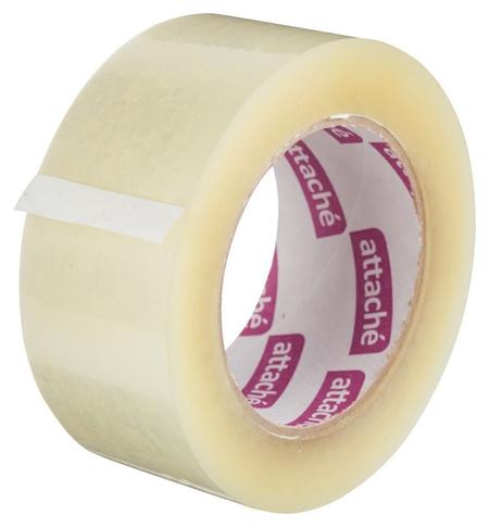 Клейкая лента упаковочная Attache 48мм х 132м 45мкм прозрачная  Attache