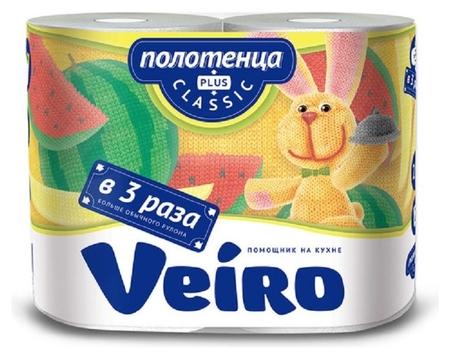 Полотенца бумажные Linia Veiro Classic Plus 2рул./уп 2сл 6п22  Veiro professional