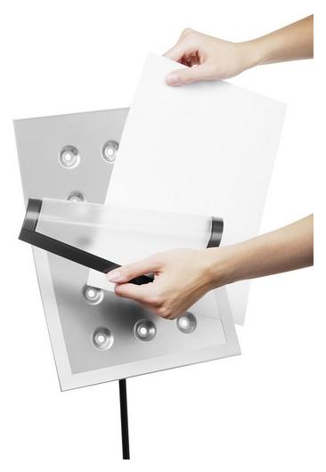 Стойка информационная Duraview А4, напольная, серебро, с рамкой  Durable