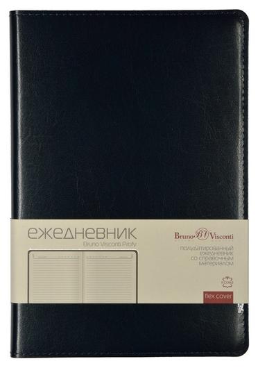 Ежедневник полудатированный синий,a5,152х222мм,416стр,br.v.profy  Bruno Visconti