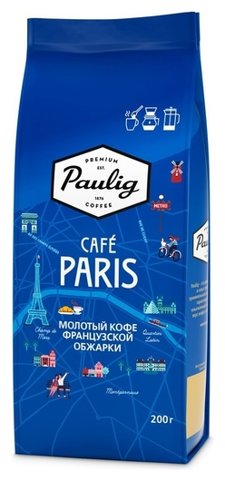 Кофе Paulig Cafe Paris молотый, 200г  Paulig