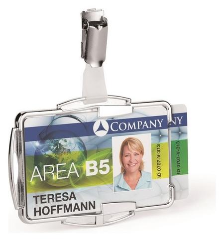 Бейдж держатель для двух пластиковых карт Durable 8902 с защитой от Rfid  Durable