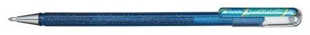Ручка гелевая Pentel Hibrid Dual Metallic 0,55мм хамелеон синий+зеленый  Pentel