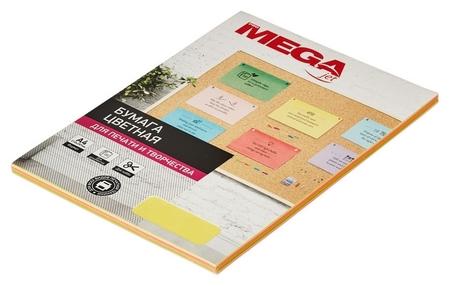 Бумага цветная Promega Jet (А4,75г, неон) пачка 100л  ProMEGA