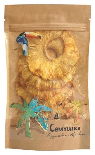 Сухофрукты ананасы семушка, 80г  Семушка