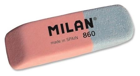 Ластик каучуковый Milan 860 комбинир. для стирания чернил и графита  Milan