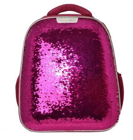 Ранец №1school Sparkle Pink,ортопед. Cпинка, двустор.пайетки фуксия/серебро  №1 School