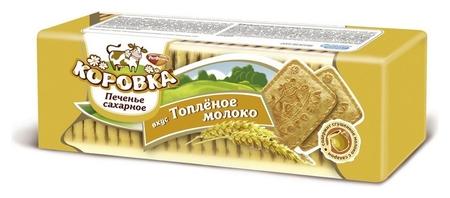 Печенье коровка вкус топленое молоко, 375г  Коровка