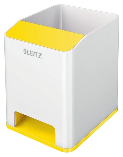 Подставка для ручек и смартфона Leitz WOW с усилен.звука 53631016желт/бел  Leitz