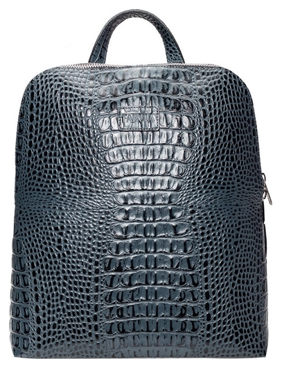 Рюкзак женский, из кожи, S.407.km.синий  Fabula