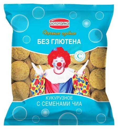 Печенье рототайка кукурузное с семенами чиа без глютена на сорбите, 200г  Рототайка
