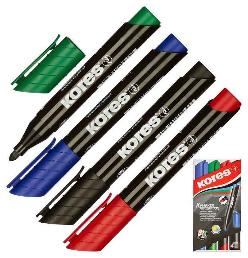 Набор маркеров Kores 1,5-3мм 4шт/уп 20943  Kores
