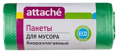 Мешки для мусора ПНД 30л 10мкм 30шт/рул зеленые 50x60см Attache Bio  Attache