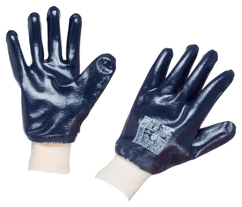 Перчатки защитные ампаро нитролайт полное нитриловое покр резинка (448585)  Ампаро