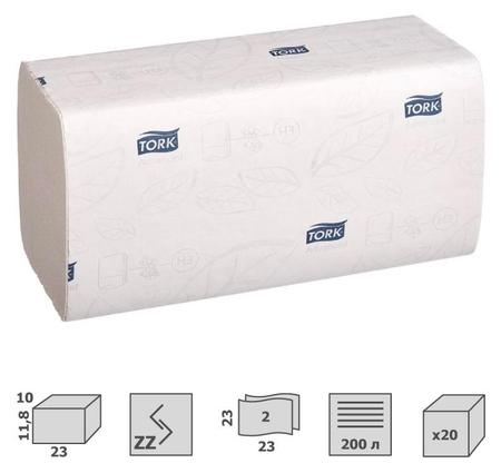 Полотенца бумажные для держ.tork Н3 Advanced ZZ 2сл.200л20шт/уп 290184singlef  Tork