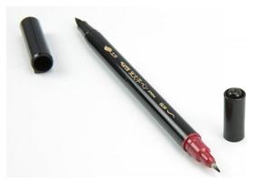 Линер -кисть Pentel двусторонний, 1,2/10,5мм, черный, Sfw34a  Pentel
