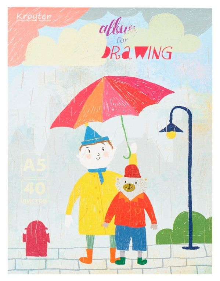 Альбом для рисования Kroyter А5 40л, 147х207мм, склейка друзья 07835  Kroyter