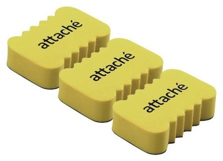 Губка-стиратель для маркерных досок Attache Economy, 5.5x3.5x1.5cм,3 шт/уп  Attache