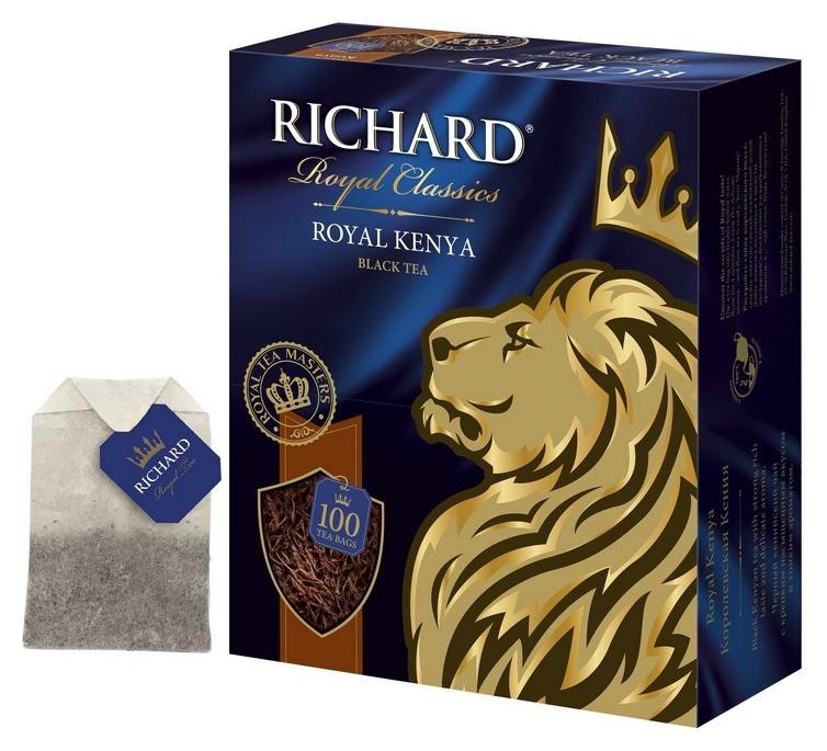Чай Richard Royal Kenya черный, 100 пак  Richard