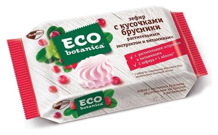 Зефир Eco-botanica с кусочками брусники, 250г  Eco botanica