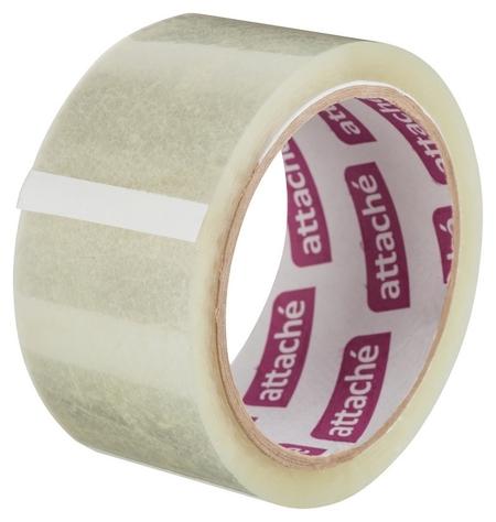 Клейкая лента упаковочная Attache 48мм х 60м 40мкм прозрачная 6 шт/уп  Attache