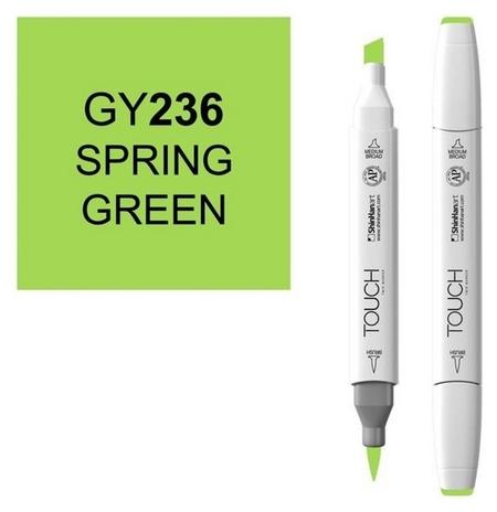 Маркер Touchbrushдвухстороннийцв.236зеленый весенний, 1210236  Touch