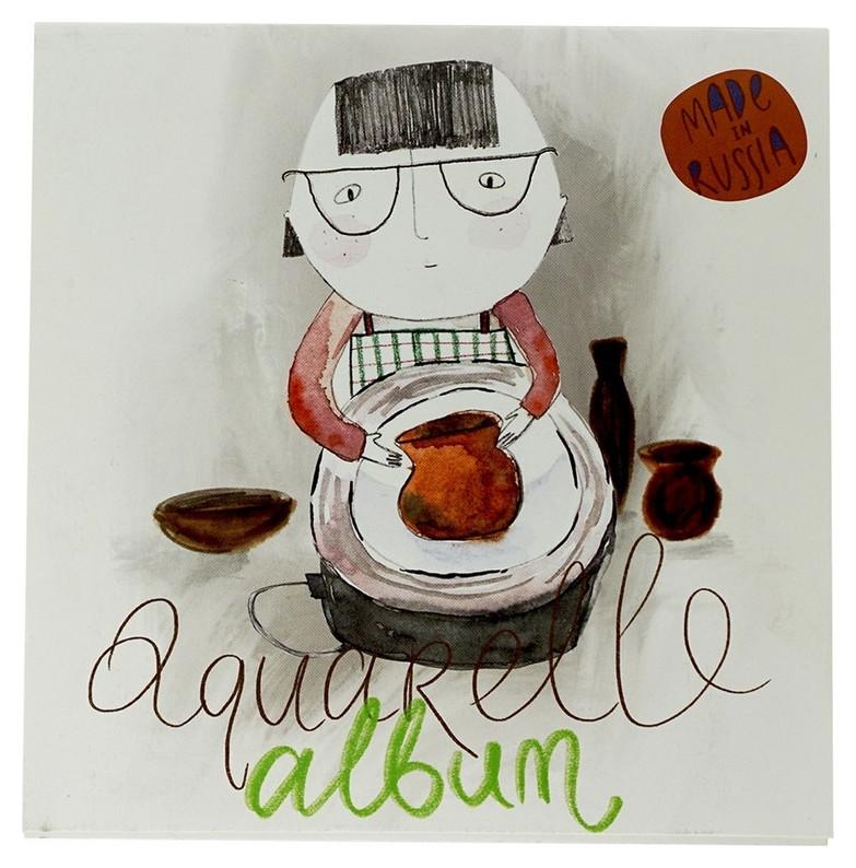 Альбом для рисов.аквар.kroyter 40л 200х200,склей,тв.под,б180г.творчество00034  Kroyter