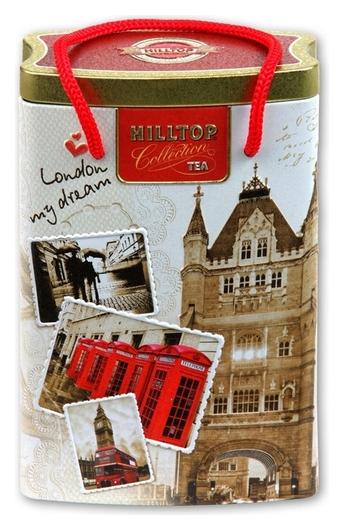 Чай Hilltop банка-пакет прогулки по лондону Эрл грей 125г. R001865/1865  Hilltop
