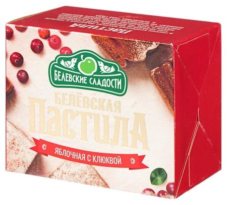 Пастила белёвская пастила с клюквой, 175 гр.  Белёвские сладости