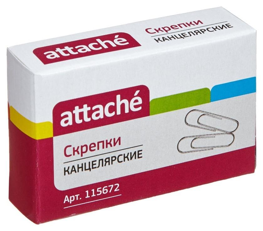 Скрепки Attache, 28 мм, оцинкованные, 100 шт.в карт.уп  Attache