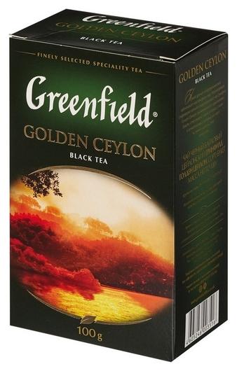 Чай Greenfield Golden Ceylon листовой черный,100г 0351-14  Greenfield