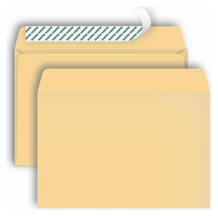 Конверты Postfix крафтс4 стрип229х324, 90г/м2, 250шт/уп  Bong