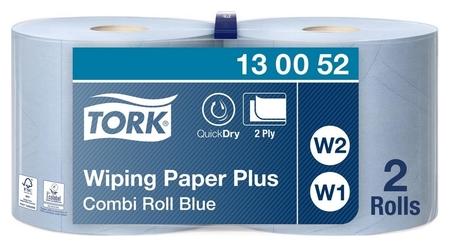 Бумага протирочная Torkw1/w2 2сл750лx2рул/к,съем.втул,гол.130052  Tork