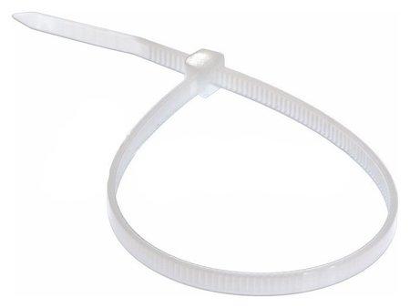 Стяжка 200 мм х 3 мм, 100 шт, нейлон, Rexant, белый, 07-0200-4  Rexant