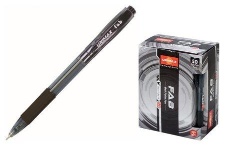 Ручка шариковая Unimax Fab GP 0,7мм, чер, масл, автом  Unimax