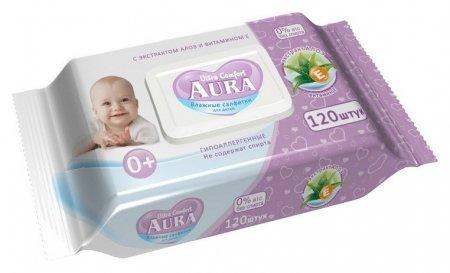 Салфетки влажные для детей Ultra Comfort  Aura