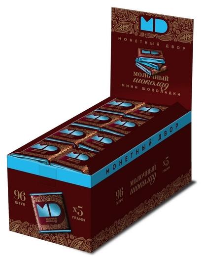 Шоколад монетный двор молочный 5г/96 шт  Монетный двор