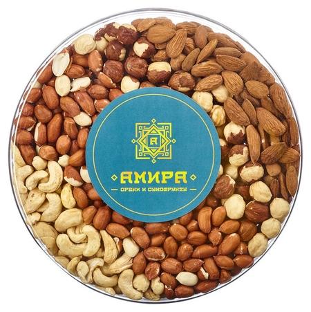 Орехи смесь 4 ореха, 620г  Амира